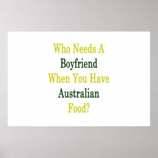 Qui a besoin d'un ami quand vous avez l'Australien Poster