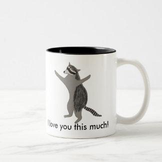 Raccoon. à deux tons de tasse de raton laveur