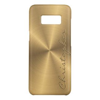 Radial métallique personnalisé d'or d'acier coque Case-Mate samsung galaxy s8