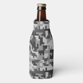 Rafraichisseur De Bouteilles Motif gris et noir de pixel d'armée