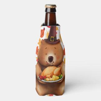 Rafraichisseur De Bouteilles ours de pilgram avec l'arrière - plan de fête