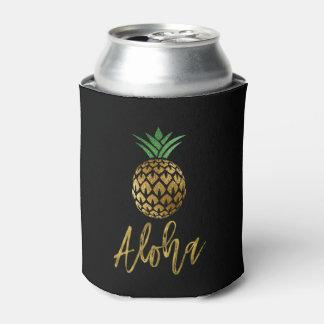 Rafraichisseur De Cannettes Aloha ananas hawaïen tropical épousant le noir