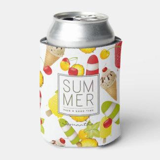 Rafraichisseur De Cannettes Amusement de fruits et de glace d'été