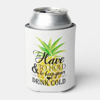 Rafraichisseur De Cannettes Aquarelle d'ananas à devoir tenir la boisson de
