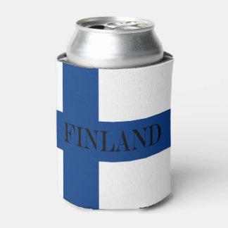 Rafraichisseur De Cannettes Drapeau de la Finlande Suomi croisé bleu