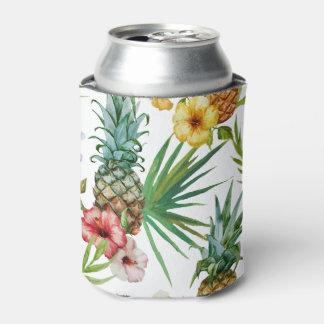 Rafraichisseur De Cannettes Motif tropical d'ananas d'aquarelle de thème