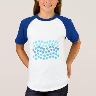 Raglan van de Sleeves van de blauwe Meisjes van T Shirt
