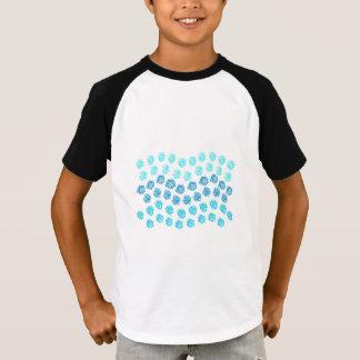 Raglan van de Sleeves van het blauwe Kind van T Shirt