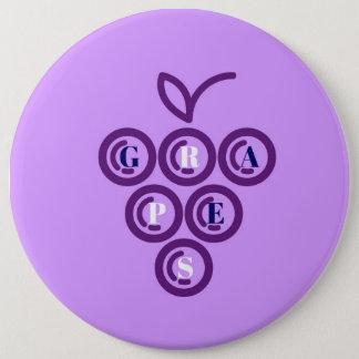 Raisins pourpres badge rond 15,2 cm