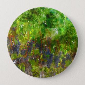 Raisins rouges sur la vigne badge rond 10 cm