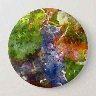 Raisins sur la vigne pendant la saison d'automne badge rond 10 cm
