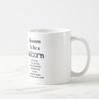 Raisons d'être une tasse de licorne