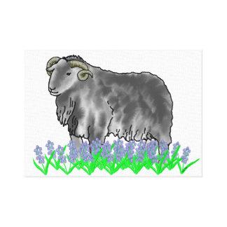 RAM de Bélier et toile d'art de jacinthes des bois