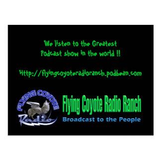 Ranch de radio de coyote de carte postale/vol