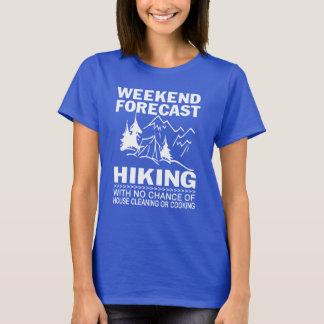 Randonnée de prévision de week-end t-shirt