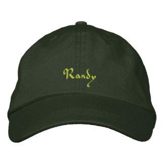 Randy a brodé le casquette