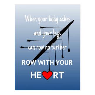 Rangée avec votre coeur inspiré carte postale