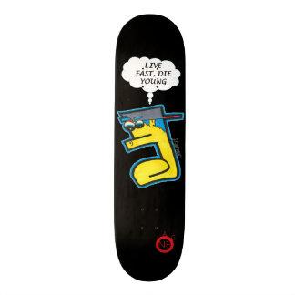 Rapides vivants meurent jeune planche à roulettes skateboard  20 cm