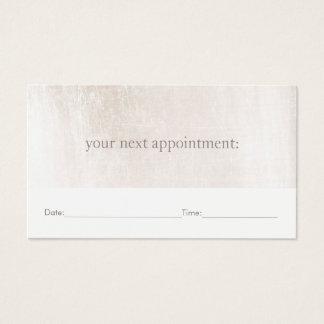 Rappel de marbre blanc simple de rendez-vous de cartes de visite