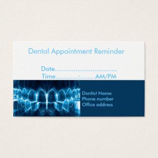 Rappel de rendez-vous de dentiste cartes de visite