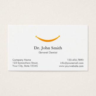 Rappel dentaire de rendez-vous de sourire simple carte de visite standard