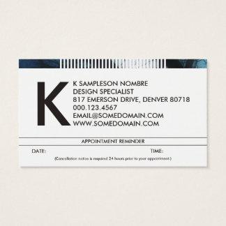 rappel harassé de rendez-vous de monogramme cartes de visite