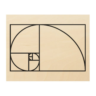Rapport d'or de Fibonacci - art mathématique