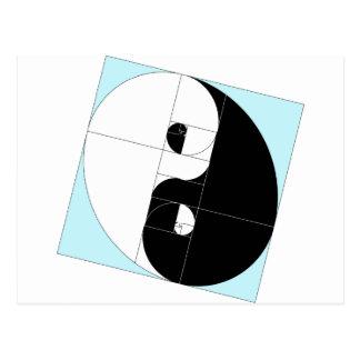 Rapport d'or Yin Yang Carte Postale