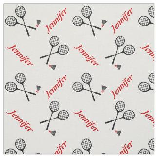 Raquette de badminton et votre nom personnalisés tissu