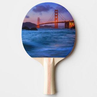 Raquette De Ping Pong Après coucher du soleil à la plage de Baker