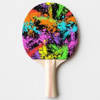 Raquette De Ping Pong Arc-en-ciel noir éclaboussé