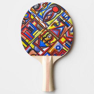 Raquette De Ping Pong Art urbain de Deux-Résumé de rue géométrique
