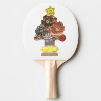 Raquette De Ping Pong Batte de ping-pong d'arbre de Noël de Steampunk