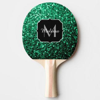 Raquette De Ping Pong Beau monogramme d'étincelles de scintillement de