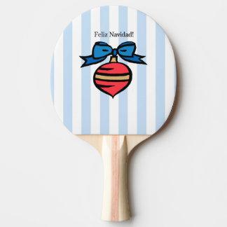 Raquette De Ping Pong Bleu rouge de palette de ping-pong d'ornement de
