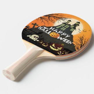 Raquette De Ping Pong Ciel nocturne hanté éffrayant Halloween de costume