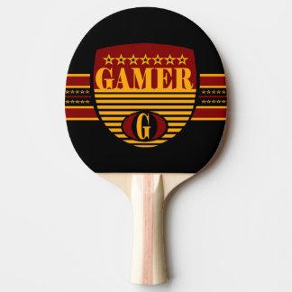 Raquette De Ping Pong Dos rouge en caoutchouc