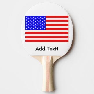 Raquette De Ping Pong Drapeau des Etats-Unis