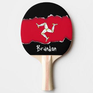 Raquette De Ping Pong Drapeau d'île de Man