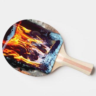Raquette De Ping Pong En flammes