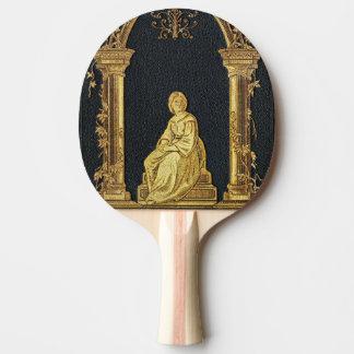Raquette De Ping Pong Femme de Falln dans la couverture de livre d'or