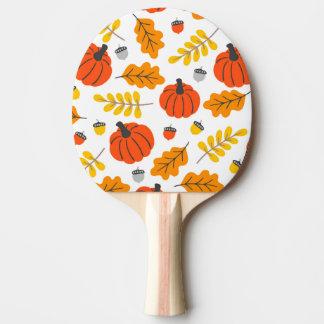 Raquette De Ping Pong Feuille et citrouilles d'automne