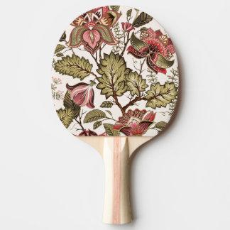 Raquette De Ping Pong Fleur vintage rustique de Paisley sur l'arrière -