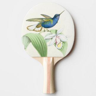 Raquette De Ping Pong Fleurs d'animaux de faune d'oiseaux de colibri