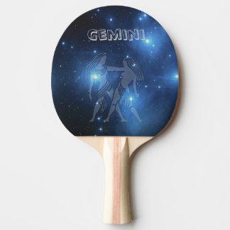 Raquette De Ping Pong Gémeaux transparents