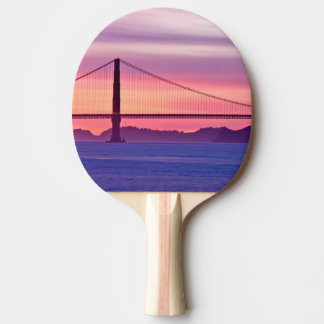 Raquette De Ping Pong Golden gate bridge au coucher du soleil