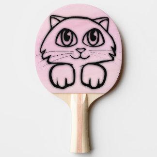 Raquette De Ping Pong Grand chat observé mignon jetant un coup d'oeil le