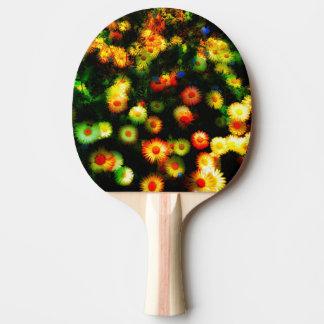 Raquette De Ping Pong Le beau néon fleurit la palette de ping-pong
