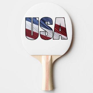 Raquette De Ping Pong Les Etats-Unis dans le drapeau patriotique