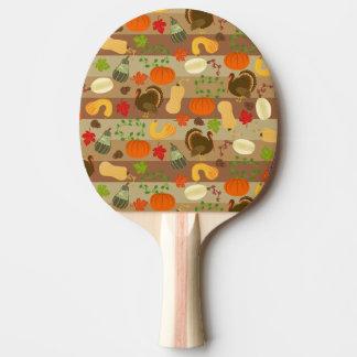 Raquette De Ping Pong Motif de récolte d'automne de courge de la Turquie